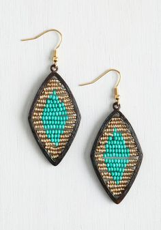 Ever Eclectic Earrings. Accessorize your look with the timeless allure of these beaded, ModCloth-exclusive earrings!  #modcloth