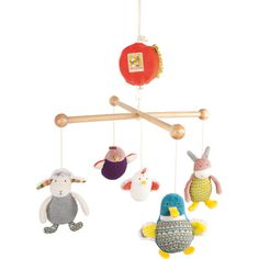 Mobile musical Les cousins Moulin Roty