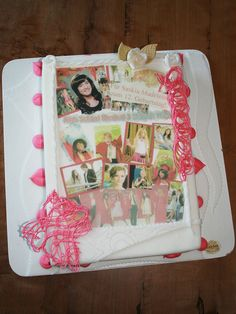 Tabler Torten. Bunte Mädchen-Foto-Torte zum Disney Film High School Musical.
