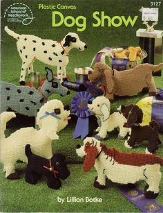 Plastic Canvas Pattern Books | Plastic Canvas Dog Show Pattern Book by crittercountry on Etsy