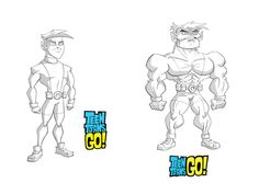 Artes de Teen Titans Go!, por Chris Battle   THECAB - The Concept Art Blog