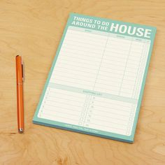 Knock Knock Things to Do Around the House notepad lets you track your household to-do list or honey-do list. This pad makes a useful household gift. Hair Tool Organizer, Plastic Organizer, Grid Panel, Memo Notepad, Writing Lists, Shops, Tomorrow Is Another Day, Life Organization, Organizing