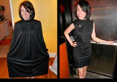 This woman challenged herself to alter an unsellable garment from second hand into a wearable, modern design every day for a year. Oh, the discipline! Oh, the savings! Her outfits are AMAZING! I love this black dress. Hope I can do this someday.