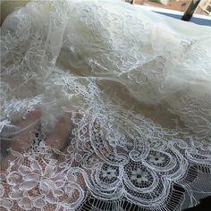 Новая технология Франция ресницы автомобиль кости ткани кружево свадебное платье платье белая ткань около 3 метров