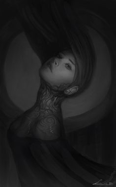 """zolaida: """" I touched up an older sketchy-poo a bit. Crazy Art, Illustration Art, Illustrations, Weird Art, Lovely Things, Dark Art, Drawing Sketches, Period, Wicked"""