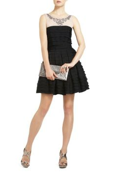 Black Bcbg Mariana Tiered A-Line Cocktail Dress Online [Black Bcbg dress] - $185.00 : Cheap Formal Dresses, Discounted Prom Dresses at DressesBarnCheap