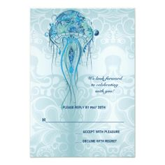Aquamarine Jellyfish Response Card