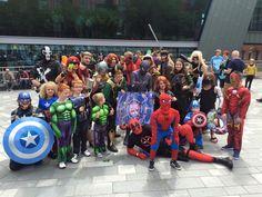 Marvel cosplay UK @thesuperheroes cosplay at the weekend
