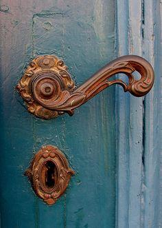 Lovely old door handle..