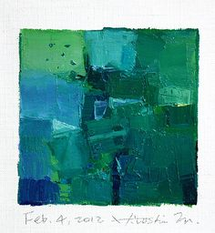 feb042012 | oil on canvas 9 cm x 9 cm hiroshi matsumoto w… | Flickr
