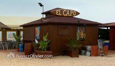 Chiringuito modular de 20 m2 construido en madera tratada para exteriores. El Capo, playas de Castelledefels, Barcelona by NavarrOlivier.com