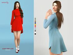 Lust for life dress by serenity-cc at TSR • Sims 4 Updates