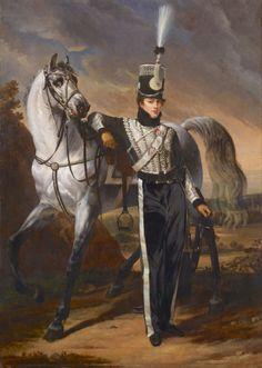 Portrait of Louis-Eugene d'Etchegoyen, Calvary Officer - Antoine-Jean Gros, 1810