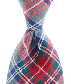 Windsor Club Plaid Woven Tie