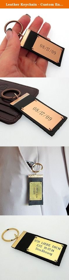 Leather Keychain   Custom Engraved Key Chain   Mens Gift Idea   Personalized Leather keychain   Pinterest