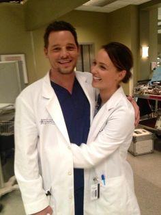 Justin Chambers and Camilla Luddington // Alex Karev and Jo Wilson from Grey's Anatomy
