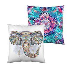 """Cojines Decorativos con Elefante. Funda de Cojín Reversible modelo """"Mumbay"""""""