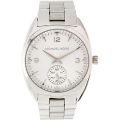 064e14a5ad88 Michael Kors Callie Stainless Steel   White Dial Watch