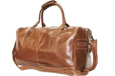 Large Tan Real Premium Leather Holdall Duffle Travel Sports Gym Designer Weekend Bag http://carryonbag.net