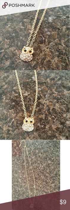 Owl Necklace | Available in Silver Owl necklace | About 9 inches long | Adjustable length | Never worn Jewelry Necklaces