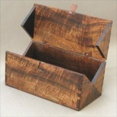 Folding Box Pattern. By John C. Lee. Inspired by an attachment box, 1889 Singer Machine Co. via sawtooth ideas