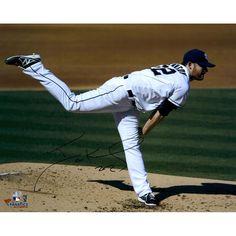 "Ian Kennedy San Diego Padres Fanatics Authentic Autographed 16"" x 20"" White Uniform Horizontal Pitch Photograph"