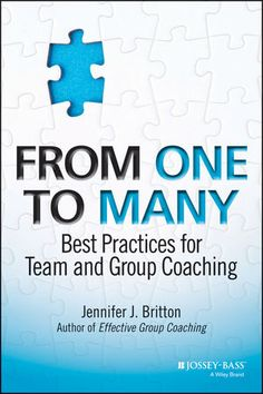 As professional development budgets at many organizations remain flat or even shrink due to financial pressures, coaches and human resources leaders are looking for new ways to do more with less funding. Unfortunately, there are few practical resources available that address the best practices for team and group coaching. 'From One to Many' fills that gap for coaches, leaders, and human resources professionals.