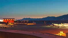 Time lapse video captures the beauty and activity of operations at Salt Lake City International Airport.