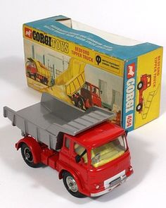 Corgi Toys 494 Bedford Tipper rare silver and red variation MIB Pic by QualityDiecastToys.com