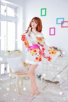 White Uniform Babydoll Lingerie G-string Nightwear Sleepwear Womens Suit