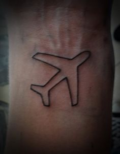 Little Airplane Tattoo by Kriscorpion