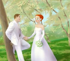 Happily ever after - Buzz and Jessie from Toy Story but would be kinda cool to have Disney charicatures done of each other in a nice piece of art like this. Walt Disney, Disney Couples, Disney Toys, Disney Fun, Disney Girls, Disney Magic, Disney Movies, Disney Characters, Disney Princess