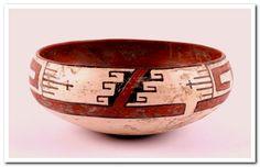 Zuni Polychrome Pottery Bowl Circa 1900