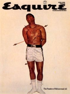 Muhammed Ali on the cover of Esquire after being stripped of his World Heavyweight Boxing title, 1968