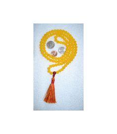 Yellow Jade Prayer Beads Japa Mala Karma 8 by AWAKENYOURKUNDALINI