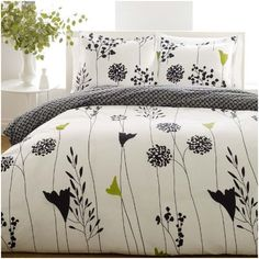 Add elegant style to your bedroom decor with this three-piece cotton comforter set by Perry Ellis. Made of 100 percent cotton, this machine-washable comforter set features a contemporary Asian lily design with a reverse pompom pattern. Decor, Duvet Covers, Duvet Cover Sets, King Duvet Cover Sets, Comforter Sets, Duvet, Duvet Sets, Home Decor, Twin Comforter Sets