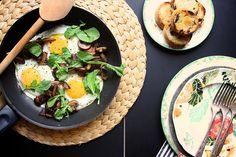 Mushroom and Bacon Breakfast Skilletb