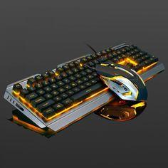 104 keys Wired Gaming Mechanical Keyboard //Price: $31.86 & FREE Shipping // #girls #model #pretty