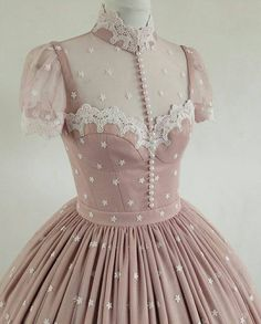 LINDA FRIESEN My client wanted an ero lolita dress, so I suggested a lingerie top. Vestidos Vintage, Vintage Dresses, Vintage Outfits, Vintage Fashion, Style Lolita, Mode Lolita, Pretty Dresses, Beautiful Dresses, Romantic Dresses
