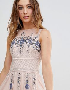 Buy Frock And Frill Premium All Over Embellished Maxi Dress at ASOS. With free delivery and return options (Ts&Cs apply), online shopping has never been so easy. Get the latest trends with ASOS now. New Frock, Wedding Guest Gowns, Frock And Frill, Frocks, No Frills, Fashion Online, Asos, Style Inspiration, Lace