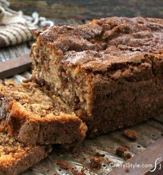 You probably have the ingredients for our cinnamon crumb bread recipe already stocked in your pantry or fridge.  - Everyday Dishes & DIY