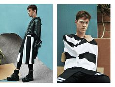 Prendas #2255 by #anelyaos for #fuckingyoung #spring15 #men #neopreno #black&white #shooting #stylist #designer #Barcelona  Javier R at BLOW photographed byXavi Prat and styled by Jorge Barcelówith pieces from Anel Yaos, Pedro Covelo, Martin Across, Hunch, Fred Perry, Scotch & Soda, Vans and Sendra, in exclusive for Fucking Young!. MUAH: Ana Cano, Styling Assistant: Núria Dalmau & Photography Assistant: Clara James http://fuckingyoung.es/thirsty-soul/