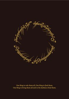 Lord of the Rings Minimal Poster by mehmetaydinozen.deviantart.com on @deviantART