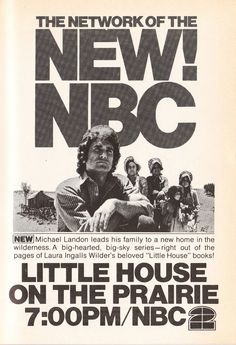 The Little House on the Prairie advertisement from the 1974 TV Guide. Even in black and white the show looked interesting! Love these vintage Little House treasures.