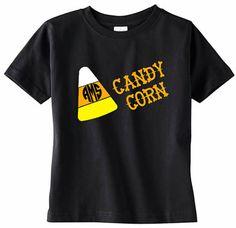 Candy Corn Monogram Youth TShirt Girls Initial by VinylDezignz