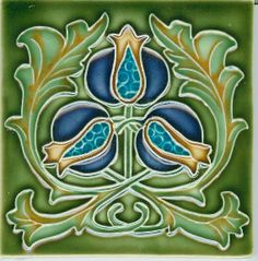 Porteous Handmade Tiles; art nouveau; arts and crafts; pomegranates
