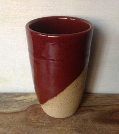 Handmade Rustic Red Ceramic Tumbler Drinking Cup by Kismet Pottery on Gourmly