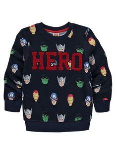 BOYS AVENGERS HERO SWEATSHIRT/JUMPER. | eBay!