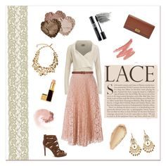 Love Lace by lalalaballa22 on Polyvore featuring Vero Moda, Valentino, FOSSIL, Oscar de la Renta, Amrita Singh, Dorothy Perkins, NARS Cosmetics, Tom Ford, Christian Dior and Bobbi Brown Cosmetics