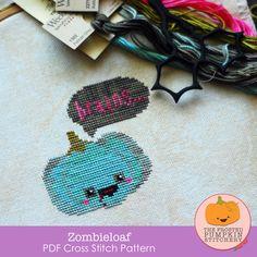 Zombieloaf PDF Cross Stitch Pattern / The Frosted Pumpkin Stitchery